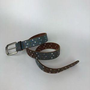 GAP 2-tone studded leather belt size 36